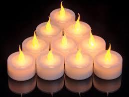 Smart Candle Amber Led Flame Tea Light Pack 10 Sc9682