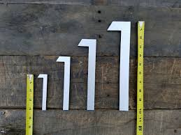 Large modern house numbers Extra Large 12 Large Modern House Numbers Brushed Aluminum Stud Mounted Metal Address Numbers And Letters Timber Art Signs 12 Large Modern House Numbers Brushed Aluminum Stud Mounted Metal