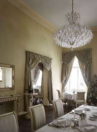 dining room with beautiful maria theresa style crystal chandelier villa richter prague czech republic