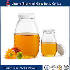 100ml small empty square glass honey jar with metal lid