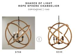 shades of light rope sphere chandelier for 750 vs wayfair colson rope enclosed chandelier for