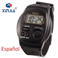 popular mens talking watches buy cheap mens talking watches lots 2017 new simple old men and women talking watch speak spanish blind electronic digital sports wristwatches