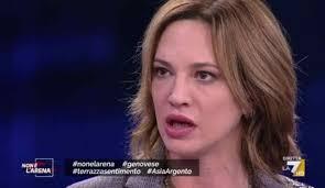 """Violento scontro fra Asia Argento e Pietro Senaldi a Non è l'Arena sulla  frase """"Lo stupro mi ha arricchita"""" -"""