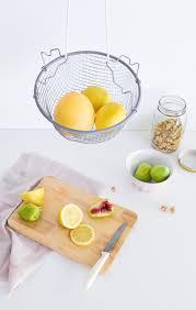 DIY Hanging fruit basket above top