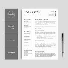Professional Resume Template Microsoft Word Gorgeous Resume Template Modern Professional Resume Template For Etsy