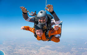 all our expert tandem instructors all have thousands of skydives and you will jump using a large parachute specifically designed for two people
