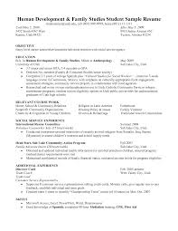 Resume Objective Statement For Human Services Resume For Study
