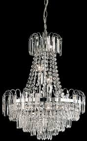 amadis 6 light chrome pendant chandelier glass drops