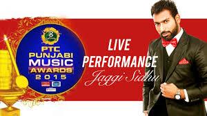 jaggi sidhu song makeup breakup live performance at ptc punjabi award 2016 you