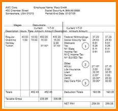Free Paystub Template Excel Download Hgh Clinics Fo