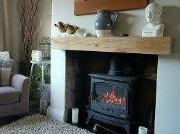 details about oak beam fireplace mantle floating shelf mantelpiece lintel air dried rustic