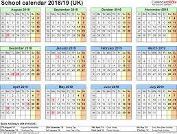 Free Printable School Calendar 2018 And 2019 School Calendar Printable School Calendars 2018 2019