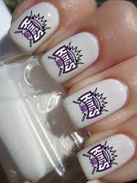 sacramento kings basketball nail decals by pinegalaxy on etsy 4 50