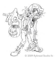 Zombie Rybread Studio October Halloween Coloring Coloring