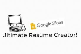 Ultimate Resumes Meet Google Slides The Ultimate Resume Creator Sustainable Teaching