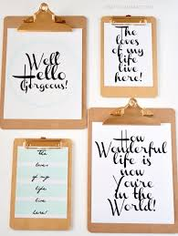 best free printables for your walls clipboard wall art with free printables free prints