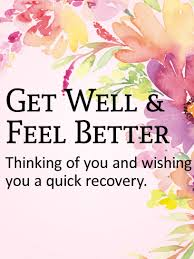 Get Well Card Thinking Of You Get Well Card Birthday Greeting Cards