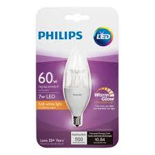 philips led light bulb warm glow effect 4 pack candelabra base