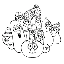 Small Picture Printable Veggie Tales Coloring Pages Coloring Me