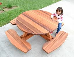 fancy toddler picnic table wood kid s round forever redwood keep dreaming with umbrella plastic diy
