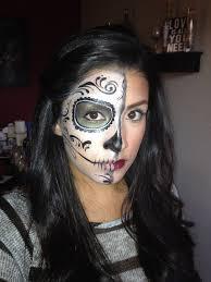 day of the dead dia del los muertos sugar skull half face