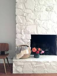 painted stone fireplace makeover painting fireplaces before and after