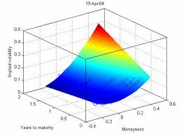 Image result for pictures of implied volatility surface