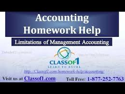 limitations of management accounting accounting homework help by  limitations of management accounting accounting homework help by classof1 com