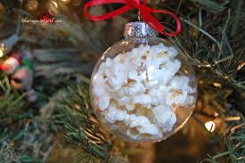 glass popcorn ball ornament diy