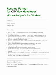 Qlikview Resume Sample Qlikview Resume Sample Awesome 24 Mobile Developer Resume Resume 1