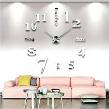 giant wall clock big home decor mirror