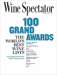 Wine Vintage Chart Wine Spectator 2019 Restaurant Wine List Awards Wine Spectator