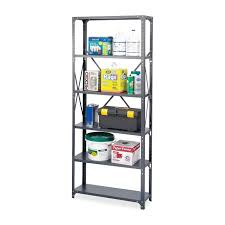 safco storage shelf dark gray steel