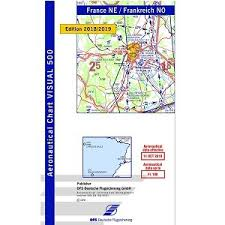 France Charts 2018 Vfr Icao Chart For France North East 2019 2020
