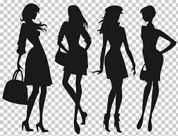 Silhouette Fashion Girl Child Png Clipart Beauty Black Black And