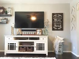farmhouse style tv stand. Living Room Decor Farmhouse Style Tv Modern Painted Mason Jars Console To Stand