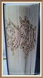 cart horses cut and fold book folding pattern
