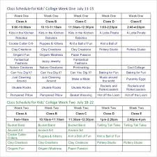 Class Schedule Excel Template Download College Class Schedule Maker Excel Template Planner Lytte Co