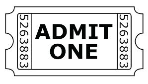 Admit One Ticket Template Free Admit One Ticket Template Free Admit