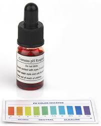 Ph Reagent Test Drops Water Ph Color Chart Ph Drop Checker