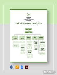 School Organizational Chart Template High School Organizational Chart Template Word Google