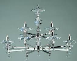 impex capri optic glass 12 light chandelier polished nickel