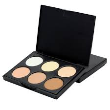 6 colors pact face powder contour make up studio makeup fix bronzer shading mineral pressed powder concealer palettecream