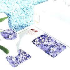 purple bathroom rug sets bath mat set flower daisies daisy pattern anti slip dark purp purple bathroom towels bath rugs
