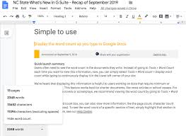 Gooogle Doc Display Word Count While Typing In Google Docs Office Of