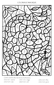 Coloriage204 Coloriage Magique Fractions