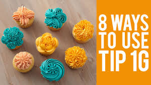 Cake Icing Tips Designs Decorate Cupcakes With Tip 1g 8 Ways