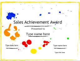 Sample Awards Certificate Sample Award Certificate Resume Builder