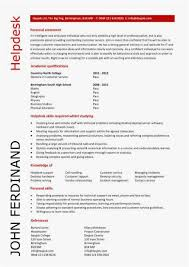 Help Desk Technician Resume New It Cv Template Cv Library Technology