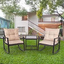 outdoor bistro set rocking chair patio